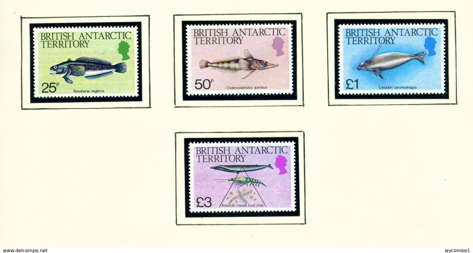 BRITISH ANTARCTIC TERRITORY - 1984 Marine Life Definitives Set Unmounted/Never Hinged Mint - Britisches Antarktis-Territorium  (BAT)