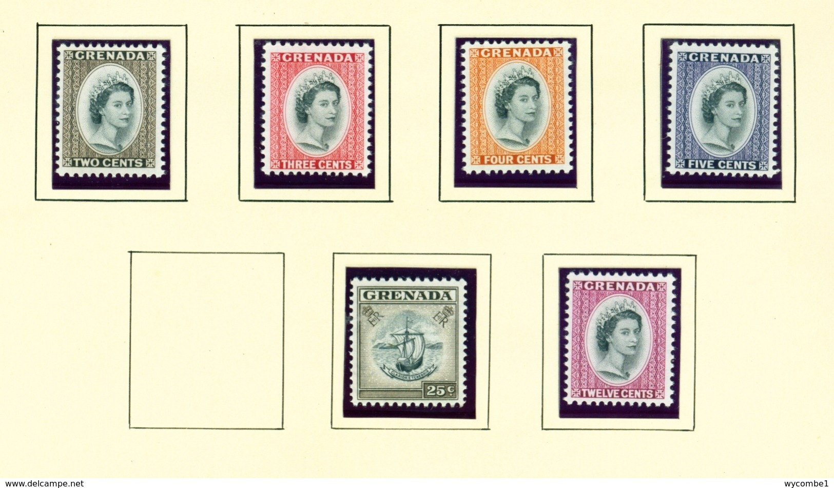 GRENADA - 1964 Definitives Watermark Mult St Edwards Crown CA Set Unmounted/Never Hinged Mint - Grenade (...-1974)
