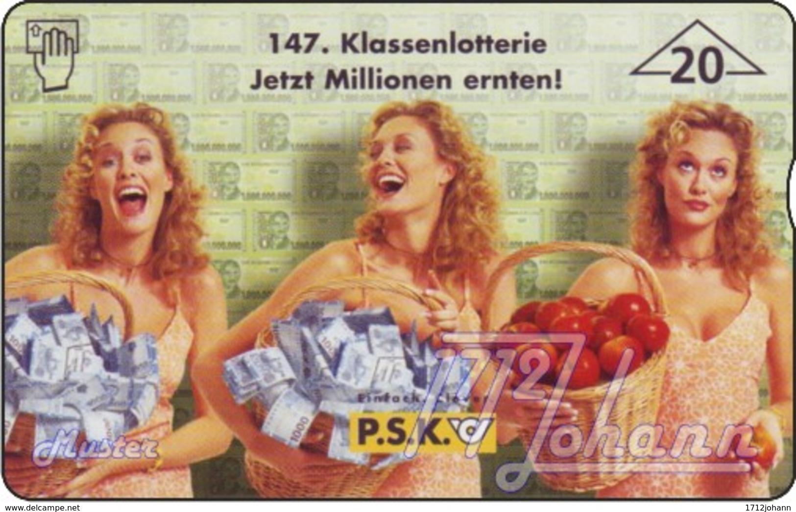 """TWK Österreich Privat: """"147. PSK-Klassenlotterie"""" Gebr. - Oesterreich"""