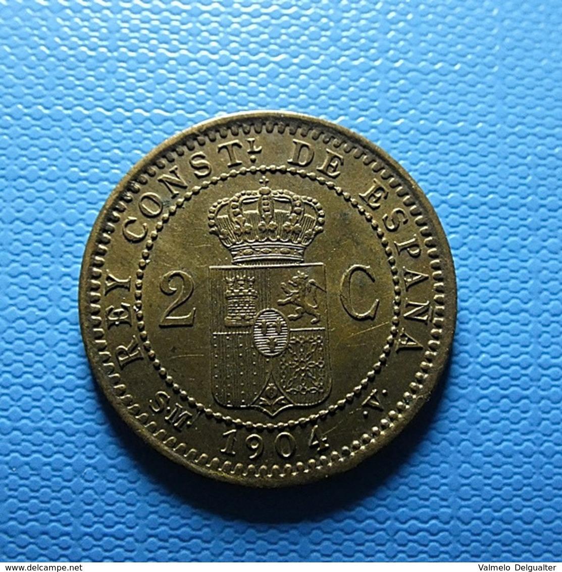 Spain 2 Centimos 1904 - [ 1] …-1931 : Koninkrijk
