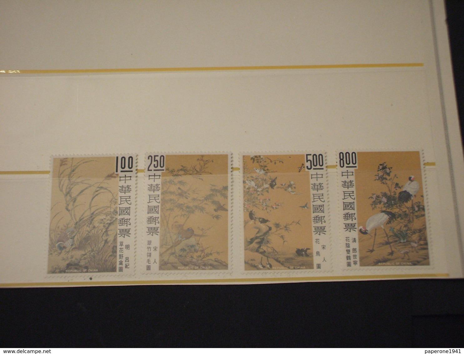 TAIWAN/FORMOSA - 1969 QUADRI UCCELLI/PIANTE 4 VALORI - NUOVI(++) - 1945-... Republik China