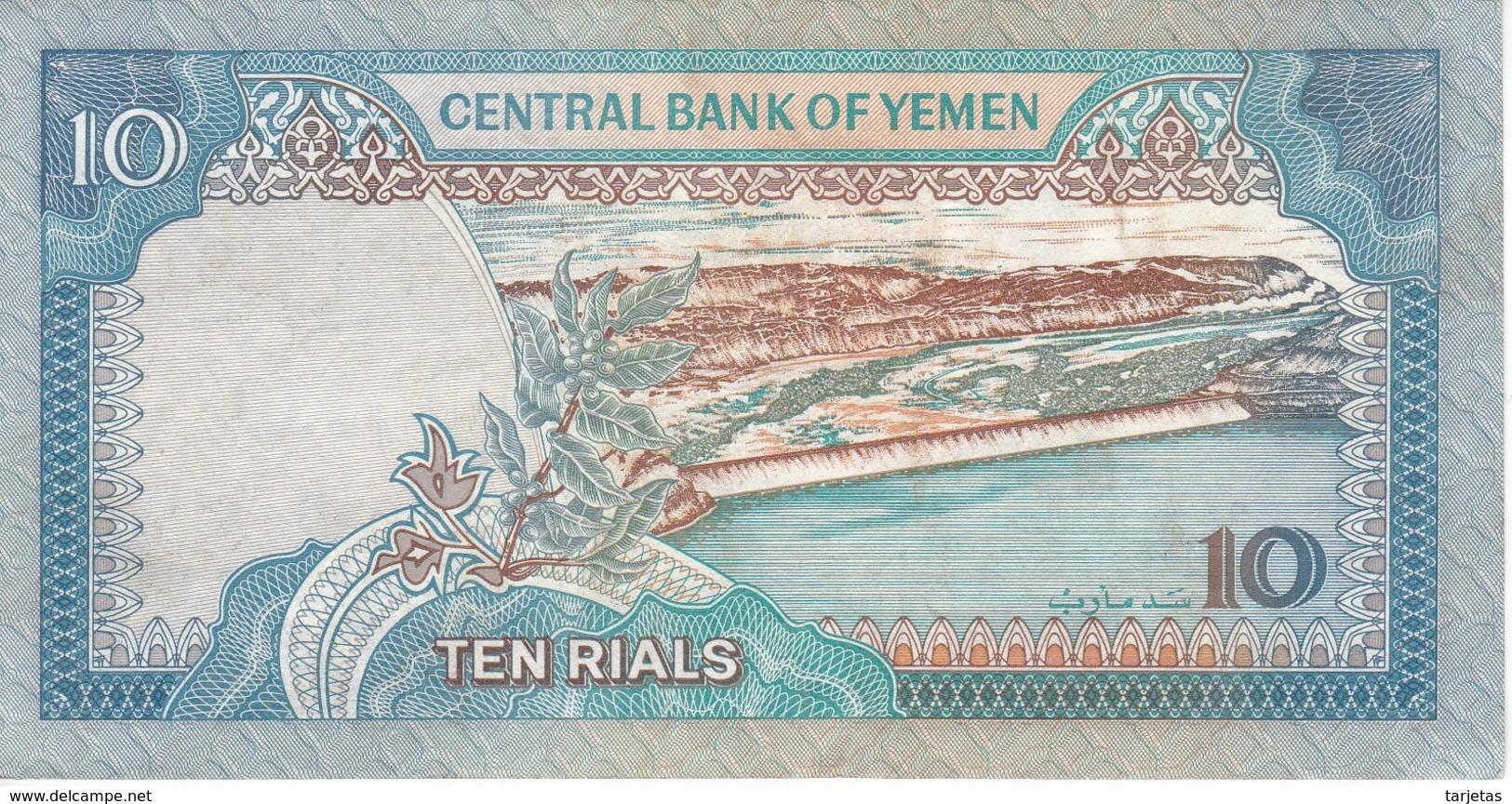 BILLETE DE YEMEN DE 10 RIALS DEL AÑO 1992 EN CALIDAD EBC (XF)   (BANKNOTE) - Yémen