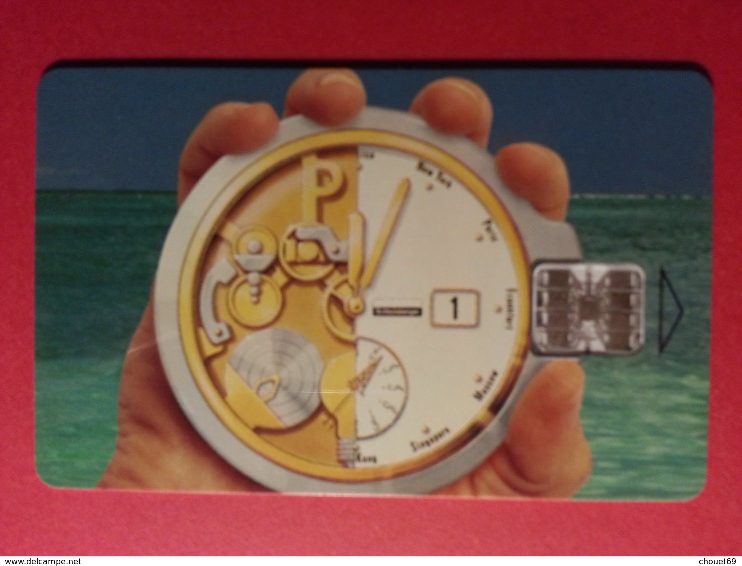 DEMO TEST SCHLUMBERGER Montre SC7 Verso Euan BAIRD (BF1217 - Telefonkarten