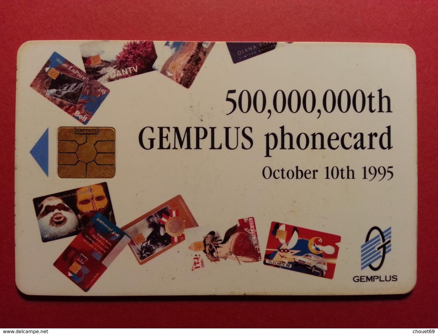 Carte Gemplus 500.000.000th Phonecards Verso Telecom 95 October 1995 (BF1217 - Telefonkarten