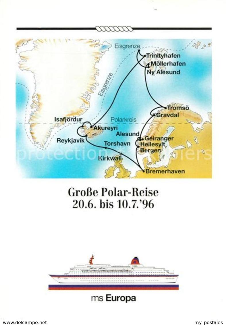 73166397 Schiffe Ships Navires MS Europa Polar-Reise Torshavn Akureyri Gravdal - Schiffe