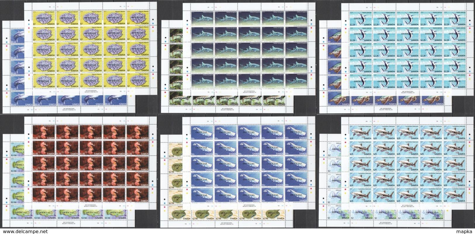 BB372 2014 SAMOA FISH & MARINE LIFE OVERPRINT OFFICIAL !!! MICHEL 1375 EURO !!! 25SET MNH - Vie Marine