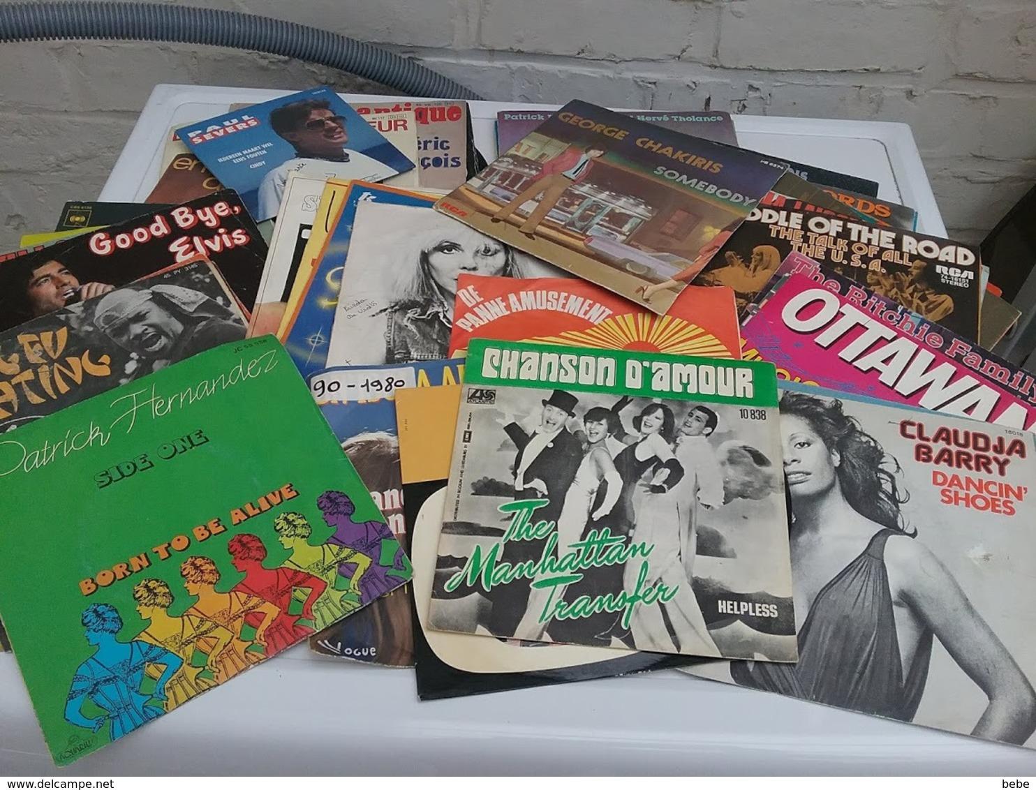 Lot De 131 Disques Vinyles En Très Bon états  Principaux Des  Années 70 - Vinyles