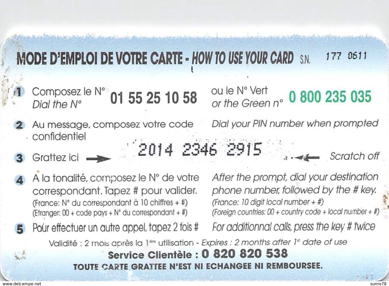 Carte Prépayée - COME PHONE  -  100 FF - Andere Voorafbetaalde Kaarten