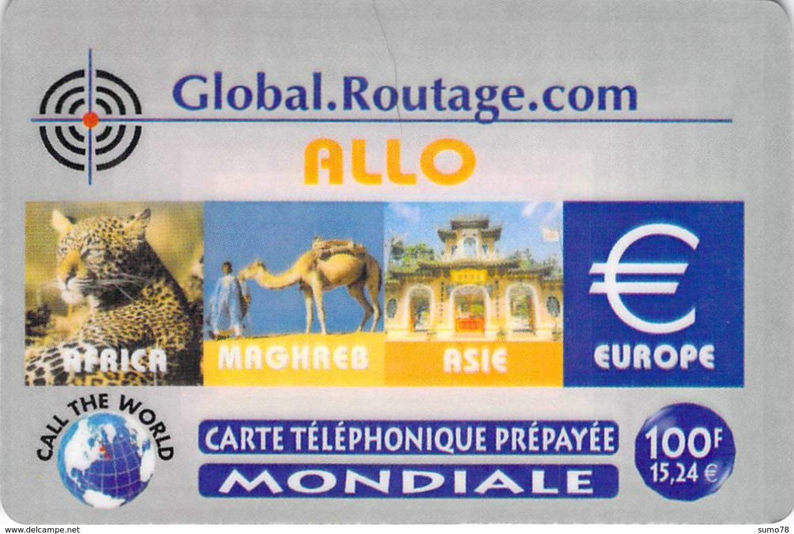 Carte Prépayée - GLOBAL ROUTAGE COM  -  100 F - Frankrijk