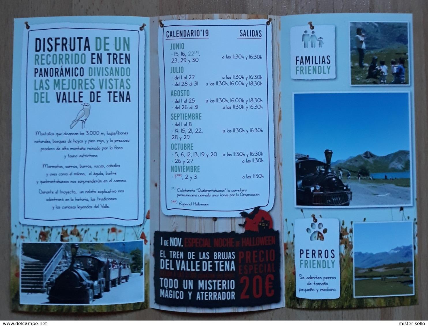 FOLLETO TREN VALLE DE TENA - ESPAÑA. - Folletos Turísticos