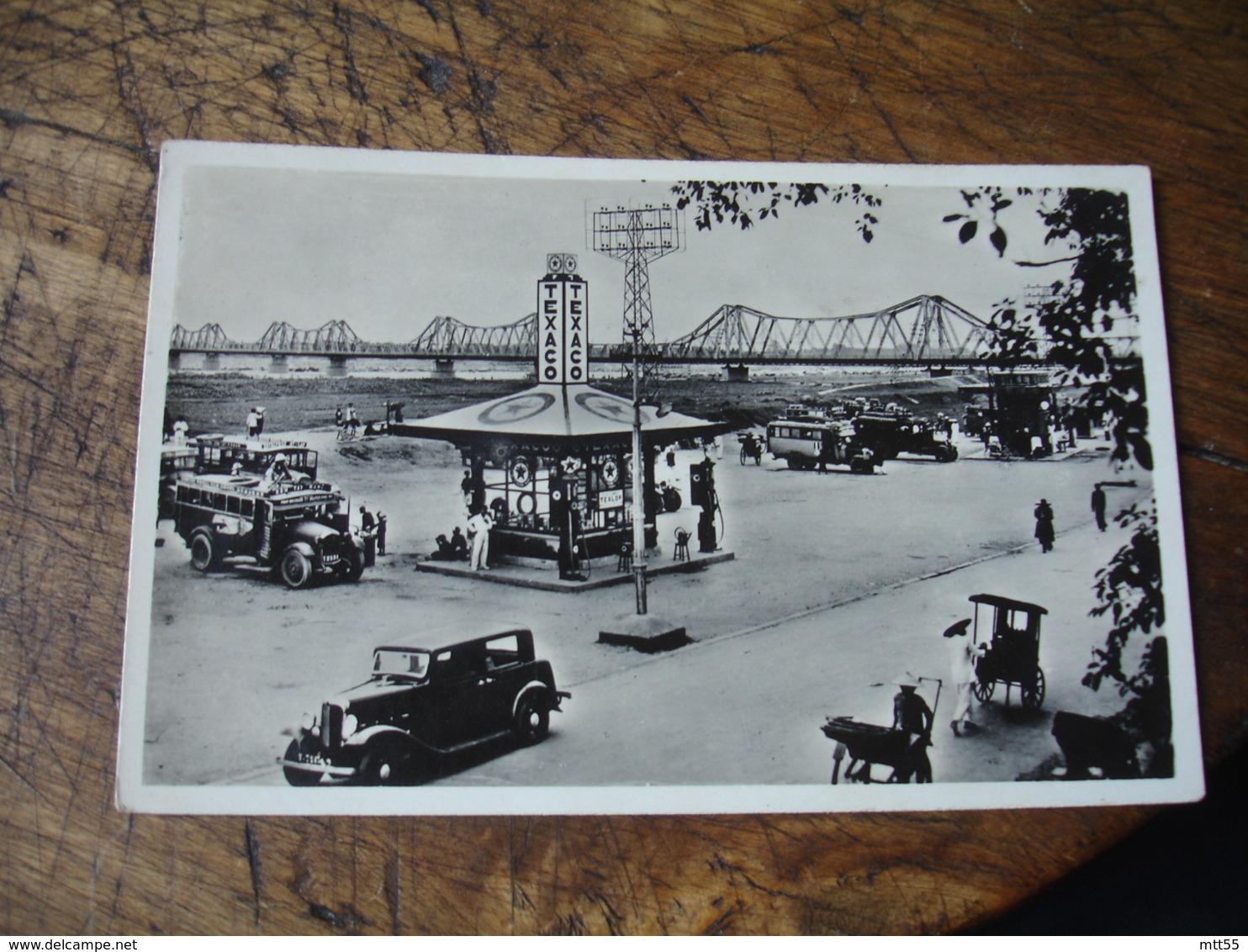 Hanoi Indochine Francaise Tonkin Station Autobus Publicite Texaco Viet Nam - Vietnam