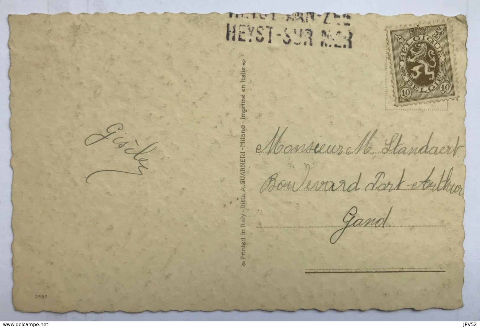 (1453) Joyeuses Pâques - Gisèle, Het Herderinnetje Met Lammeren  - 1912 - Pasen