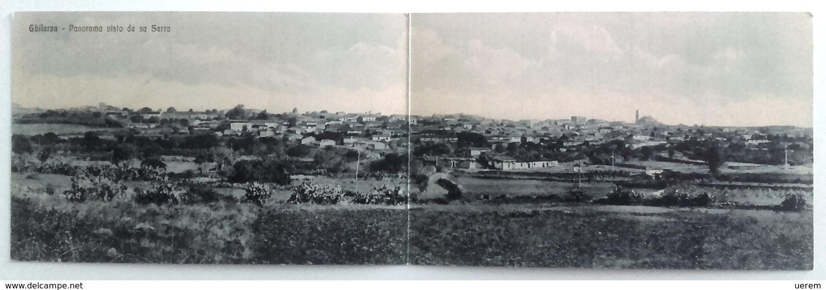 SARDEGNA - ORISTANO - GHILARZA PANORAMA VISTO DA SA SERRA Formato Doppio Viaggiata Nel 1935 - Condizioni Buone Euro 25,0 - Oristano