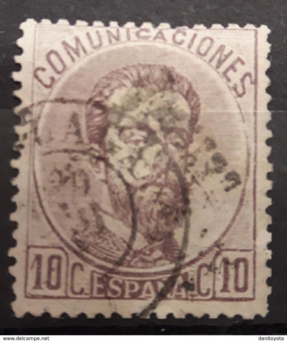 ESPAÑA.  EDIFIL 120 US.  5 CT VIOLETA  AMADEO I. CATÁLOGO 250 € - 1872-73 Reino: Amadeo I