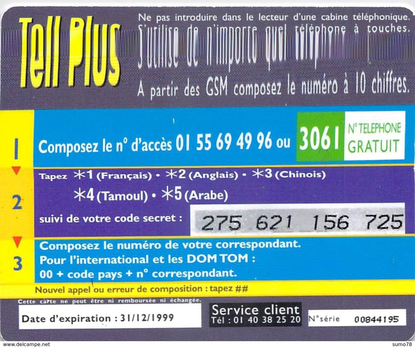 Carte Prépayée - TEL PLUS  -150 UNITES - Andere Voorafbetaalde Kaarten