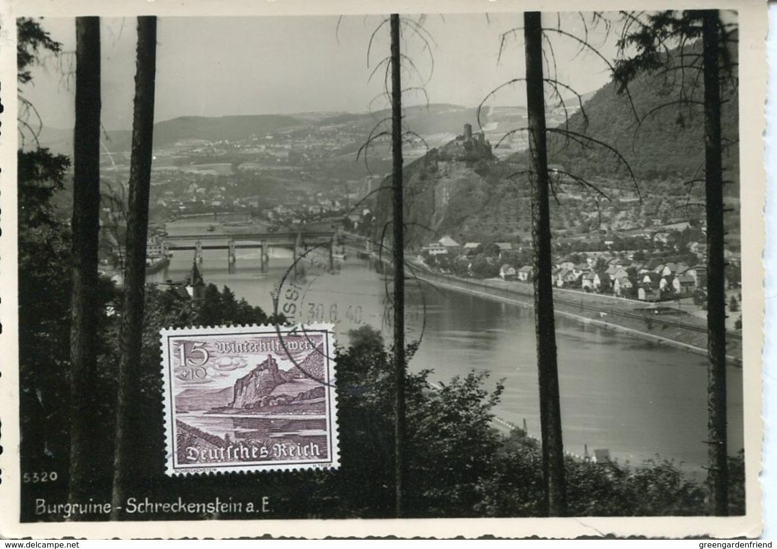 48471 Germany Reich,maximum 1940 Burg Schloss Castle Ruins Aussig Schreckenstein,architecture - Briefe U. Dokumente