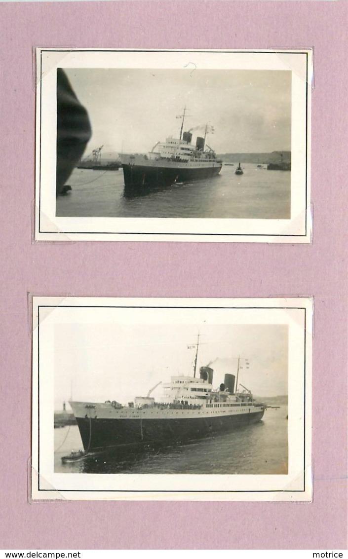 PAQUEBOT  - Ville D'Oran, Liaison Avec L'Algérie  (photo Années 40/50, Format 7cm X 5 Cm) - Boten