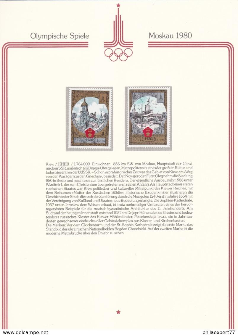 Sowjetunion - 1980 - Michel Nr. 4949/54 - Postfrisch - 20 Euro - Sommer 1980: Moskau