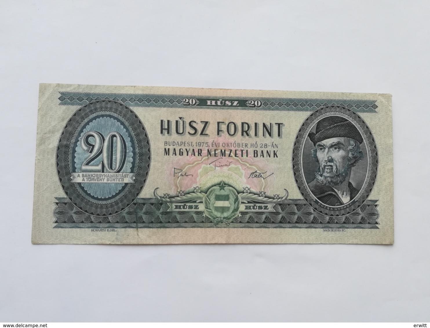 UNGHERIA 20 FIORINI 1975 - Ungarn