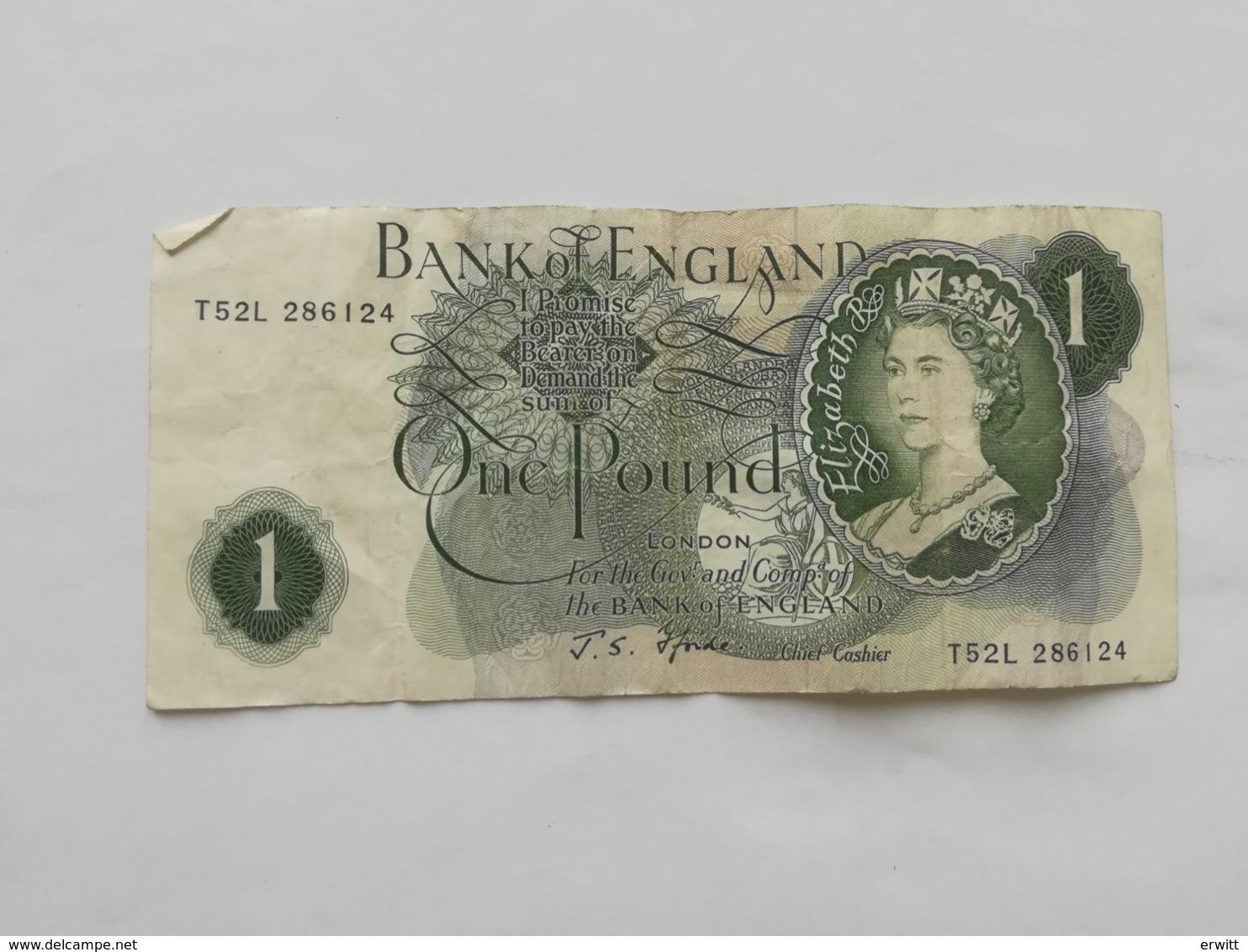 REGNO UNITO 1 POUND - 1952-… : Elizabeth II.