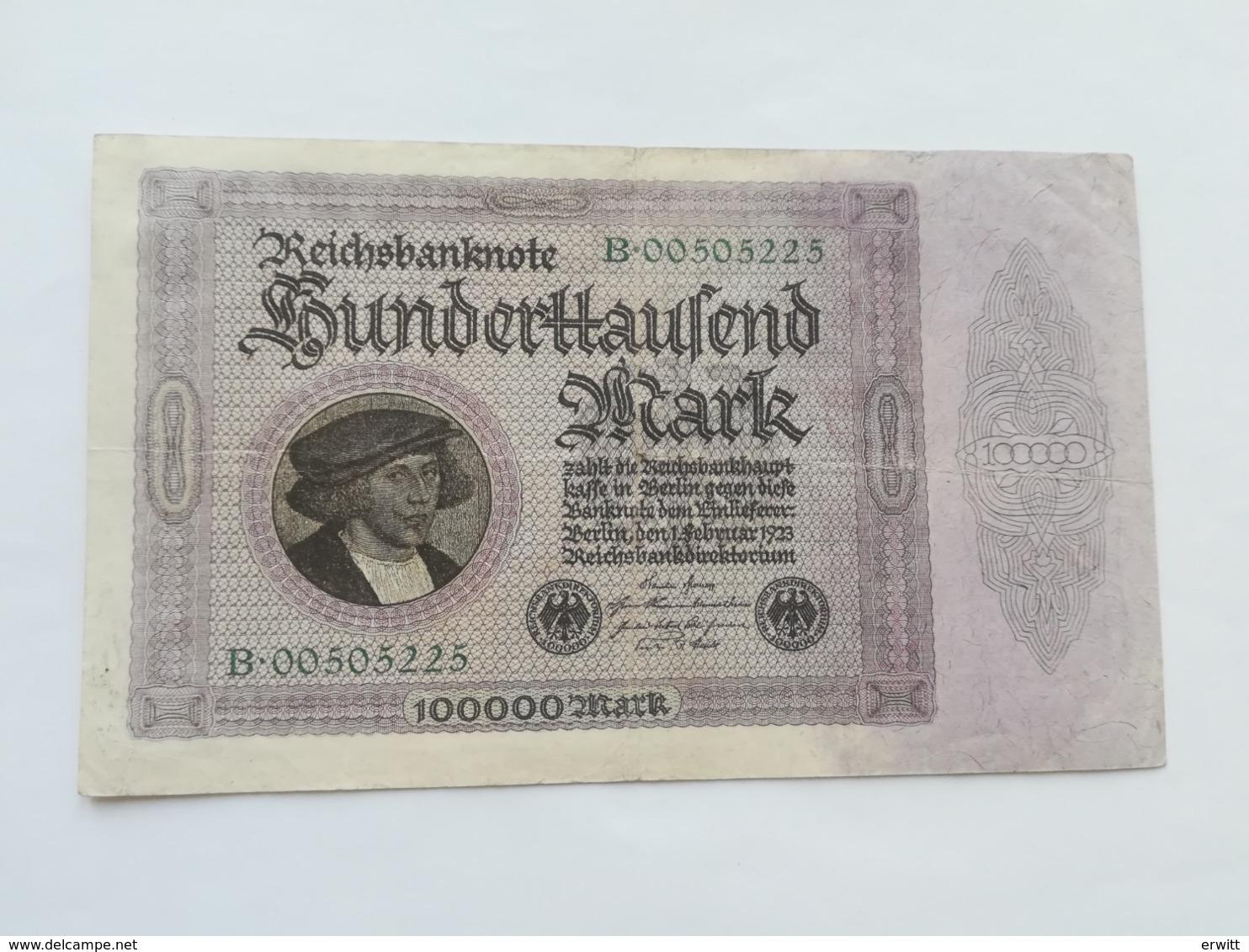 GERMANIA 100000 MARK 1923 - 1918-1933: Weimarer Republik
