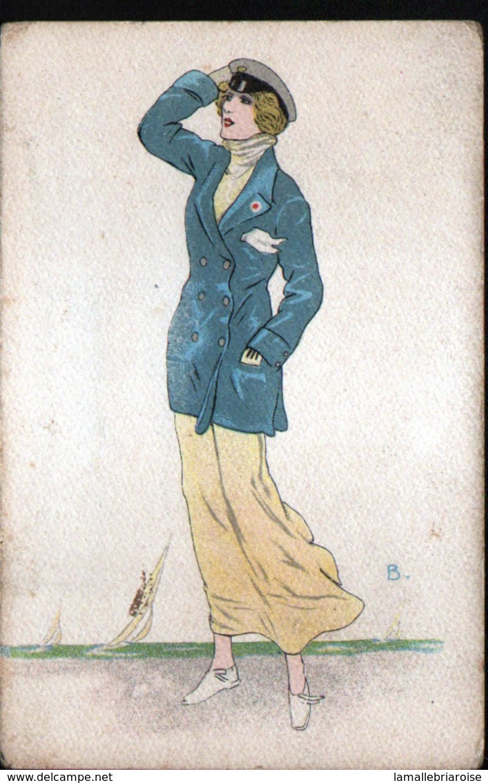 ILLUSTRATEUR  B, Femme Avec Casquette Et Pochette - Illustrators & Photographers