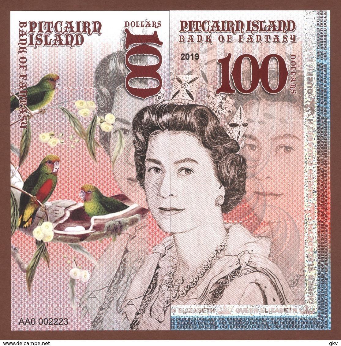 PITCAIRN ISLANDS Set 6 Pcs 2019 Polymer UNC - Bankbiljetten