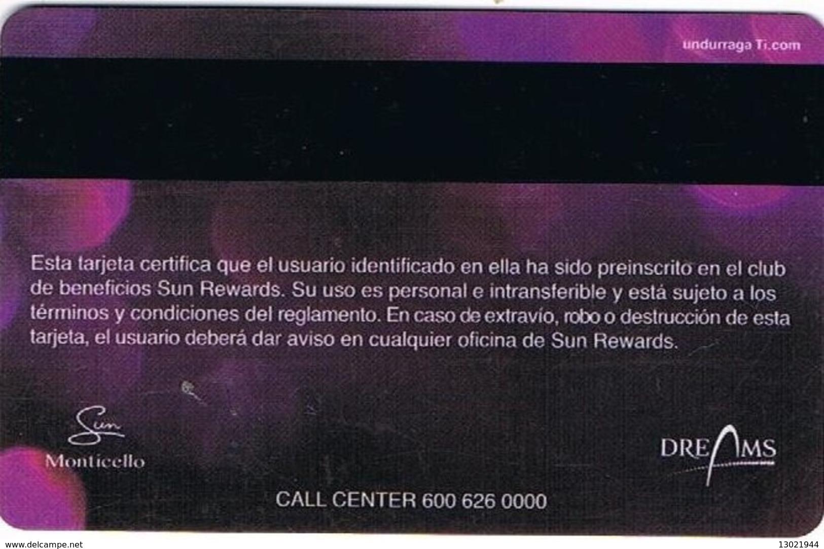 CILE KEY CASINO Sun - MONTICELLO - Casino Cards