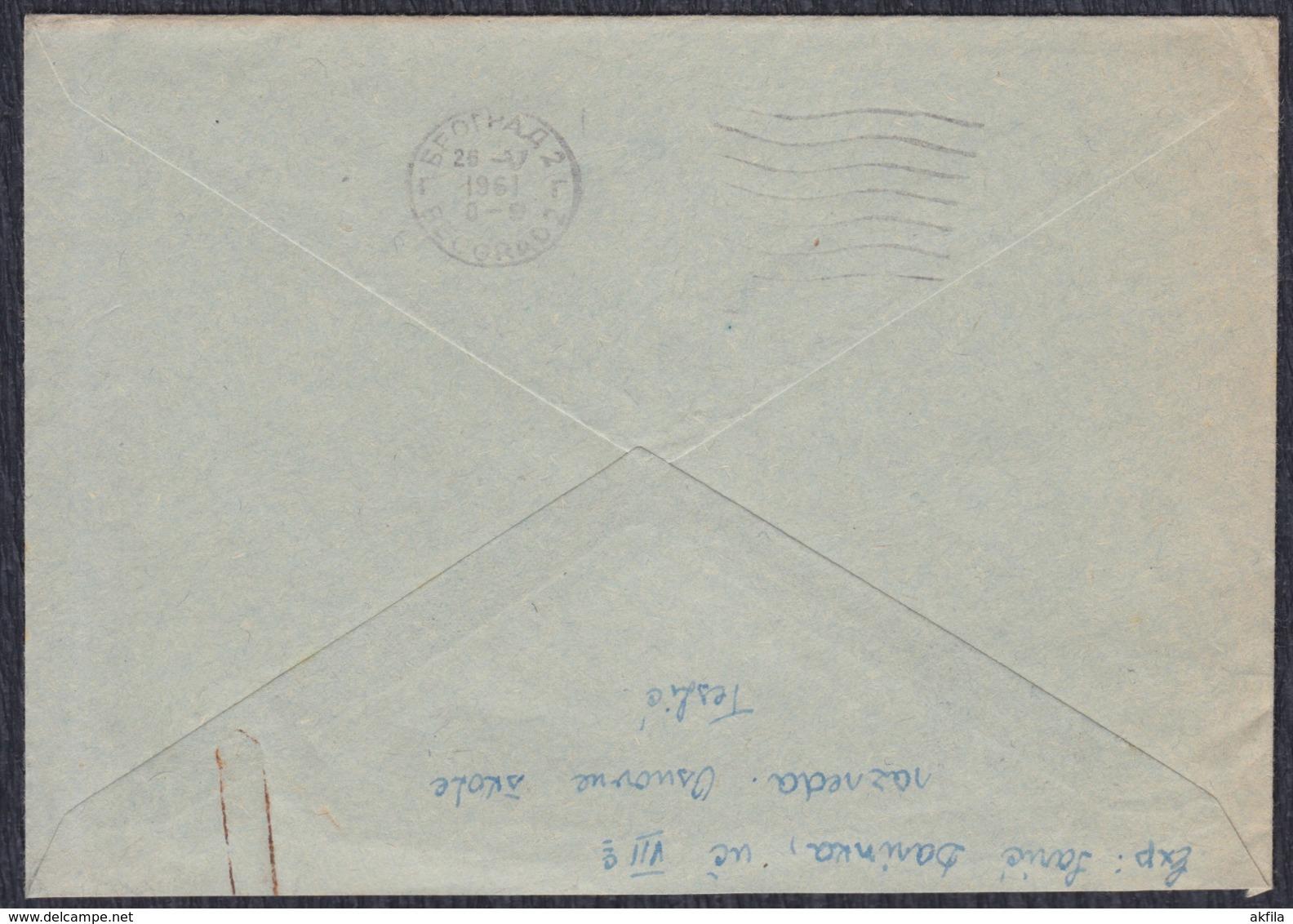 Yugoslavia 1961 Letter Sent To Marshal Josip Broz Tito - 1945-1992 Sozialistische Föderative Republik Jugoslawien