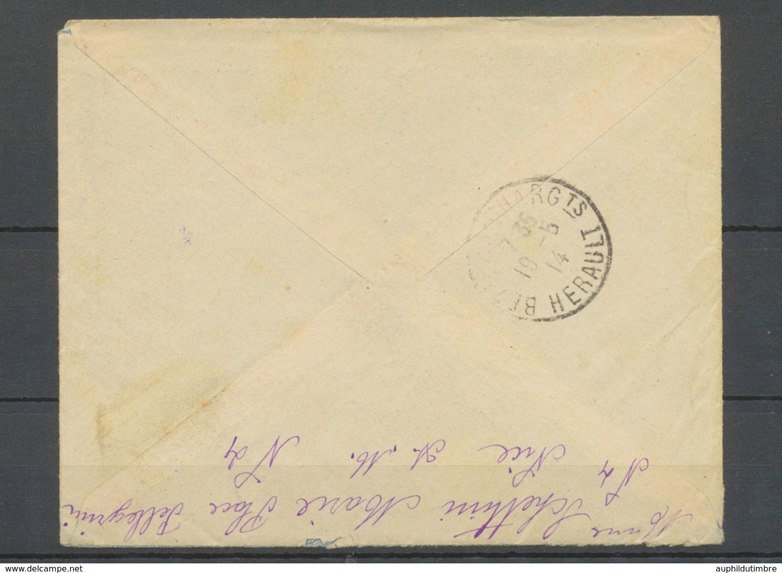 1914 Env. Cachet D'essai, NICE-PL-GARIBALDI Obl 35c Semeuse, Sur LR, SUP X4881 - Storia Postale