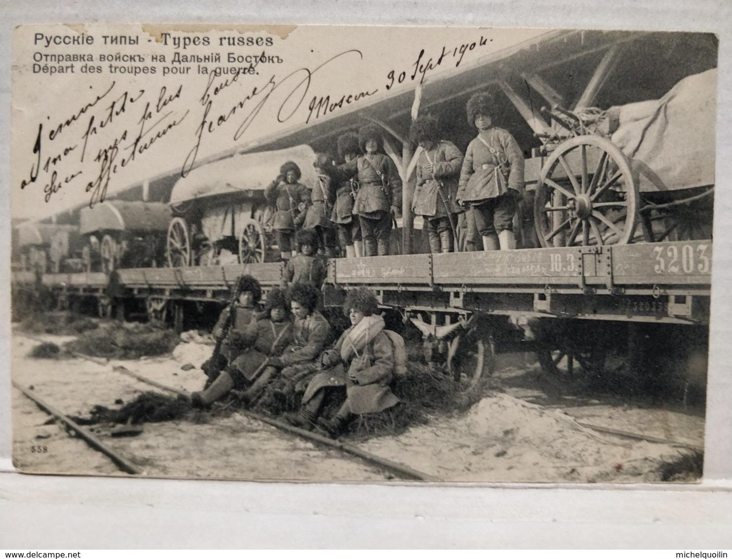 Types Russes. Départ Des Troupes Pour La Guerre. 1904 - Guerres - Autres