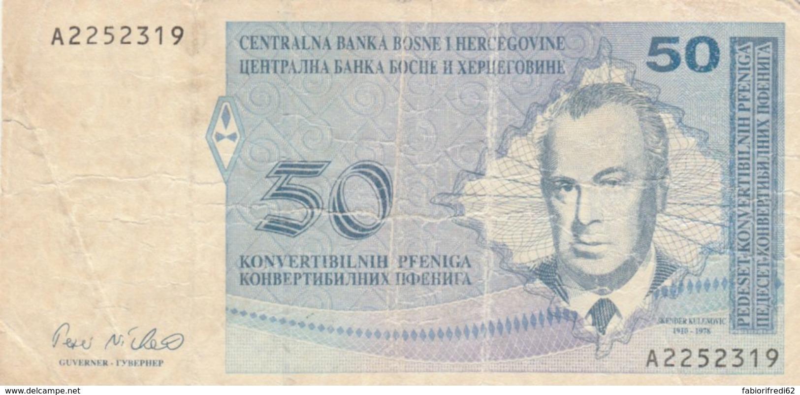 BANCONOTA BOSNIA HERZEGOVINA 50 VF (VX1006 - Bosnië En Herzegovina