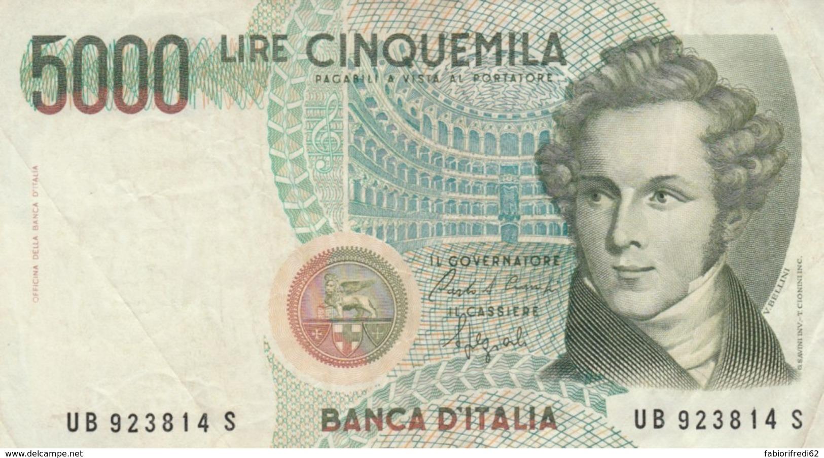 BANCONOTA ITALIA LIRE 5000 VF (VX1040 - 5000 Lire