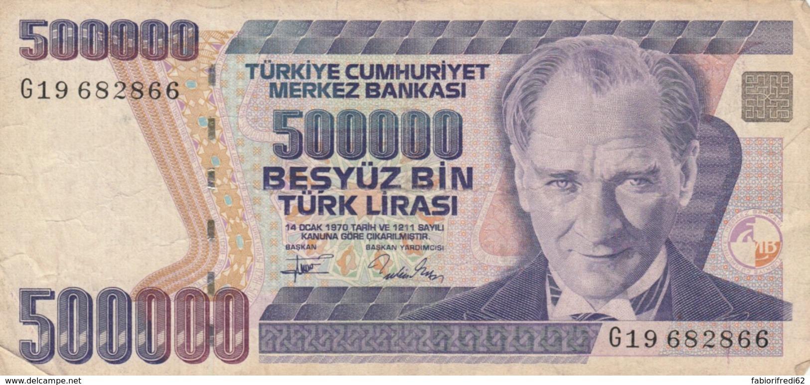 BANCONOTA TURCHIA 500000 LIRA VF (VX1572 - Turkije