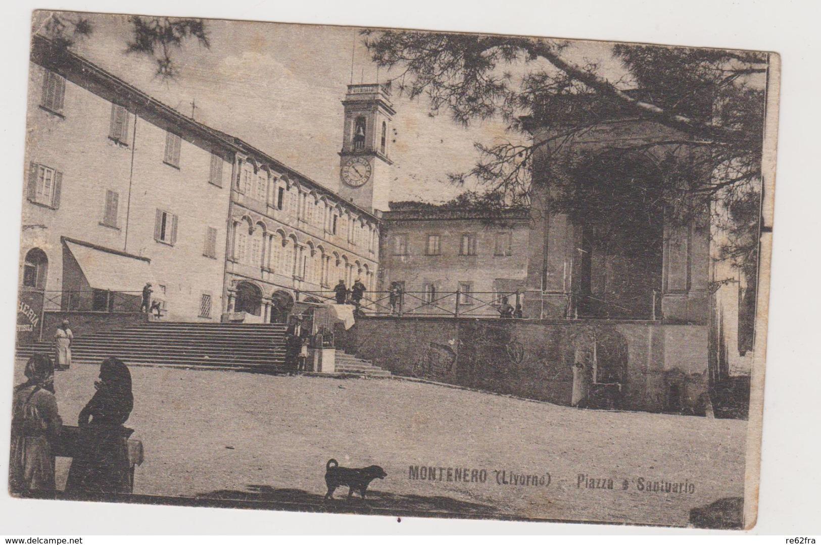 Montenero (LI) Piazza E Santuario - F.p. - Anni '1910 - Livorno