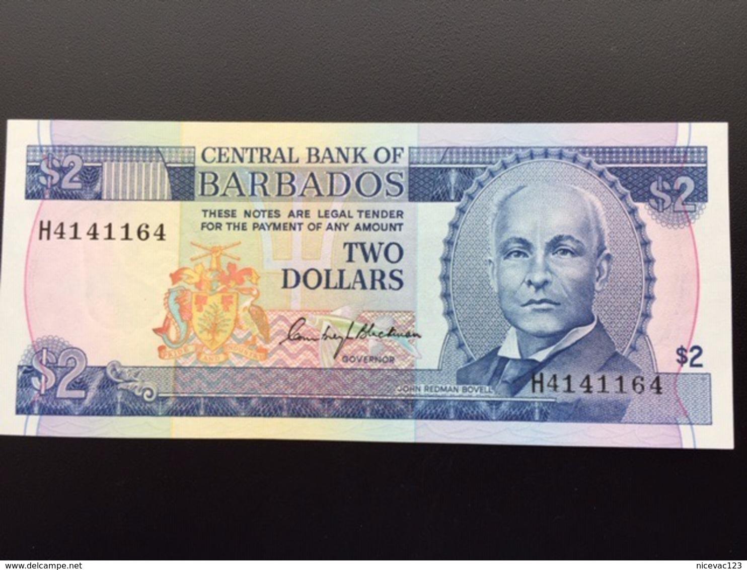 BARBADOS 2 DOLLARS 2013 UNC - Barbados (Barbuda)