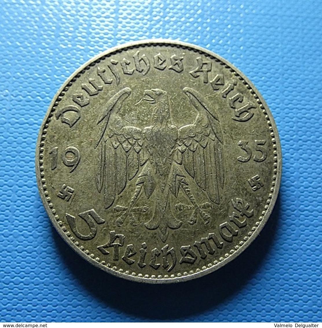 Germany 5 Reichsmark 1935 J Silver - [ 4] 1933-1945: Derde Rijk