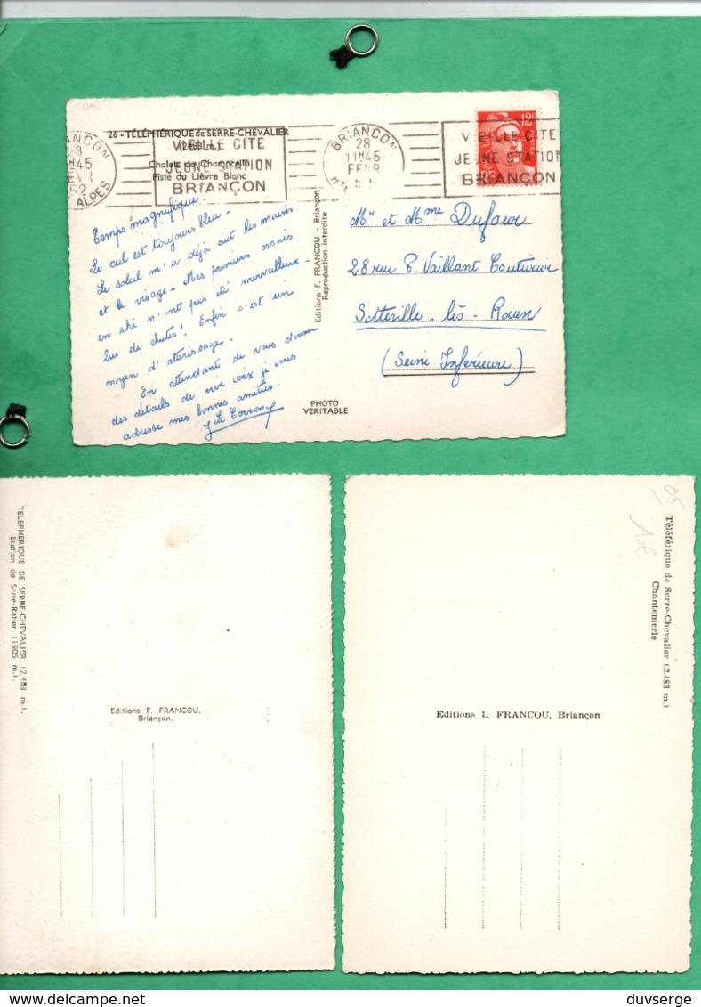 05 Hautes Alpes Serre Chevalier Telepherique Lot De 3 Cartes (format 10,5cm X 15cm) - Serre Chevalier