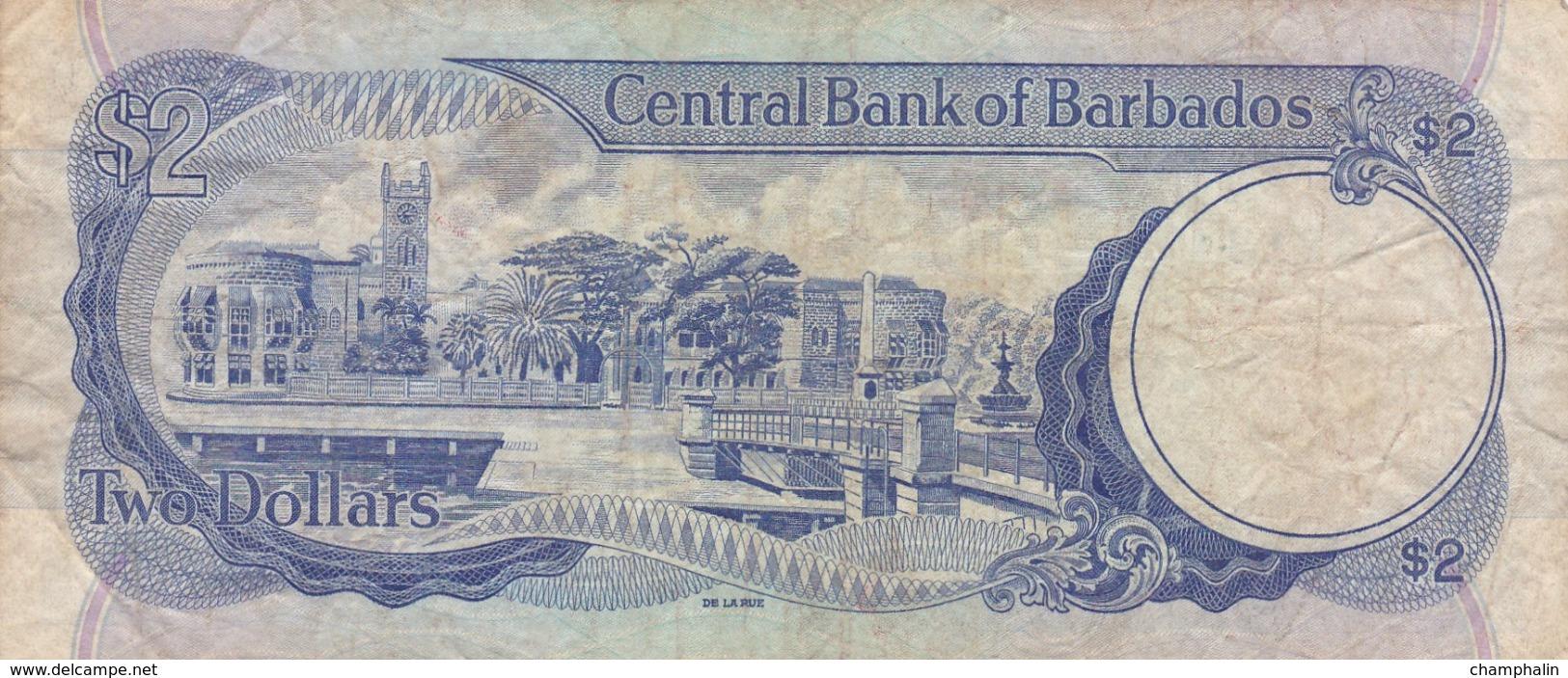 Barbades - Billet De 2 Dollars - John Redman Bovell - Non Daté - Barbados