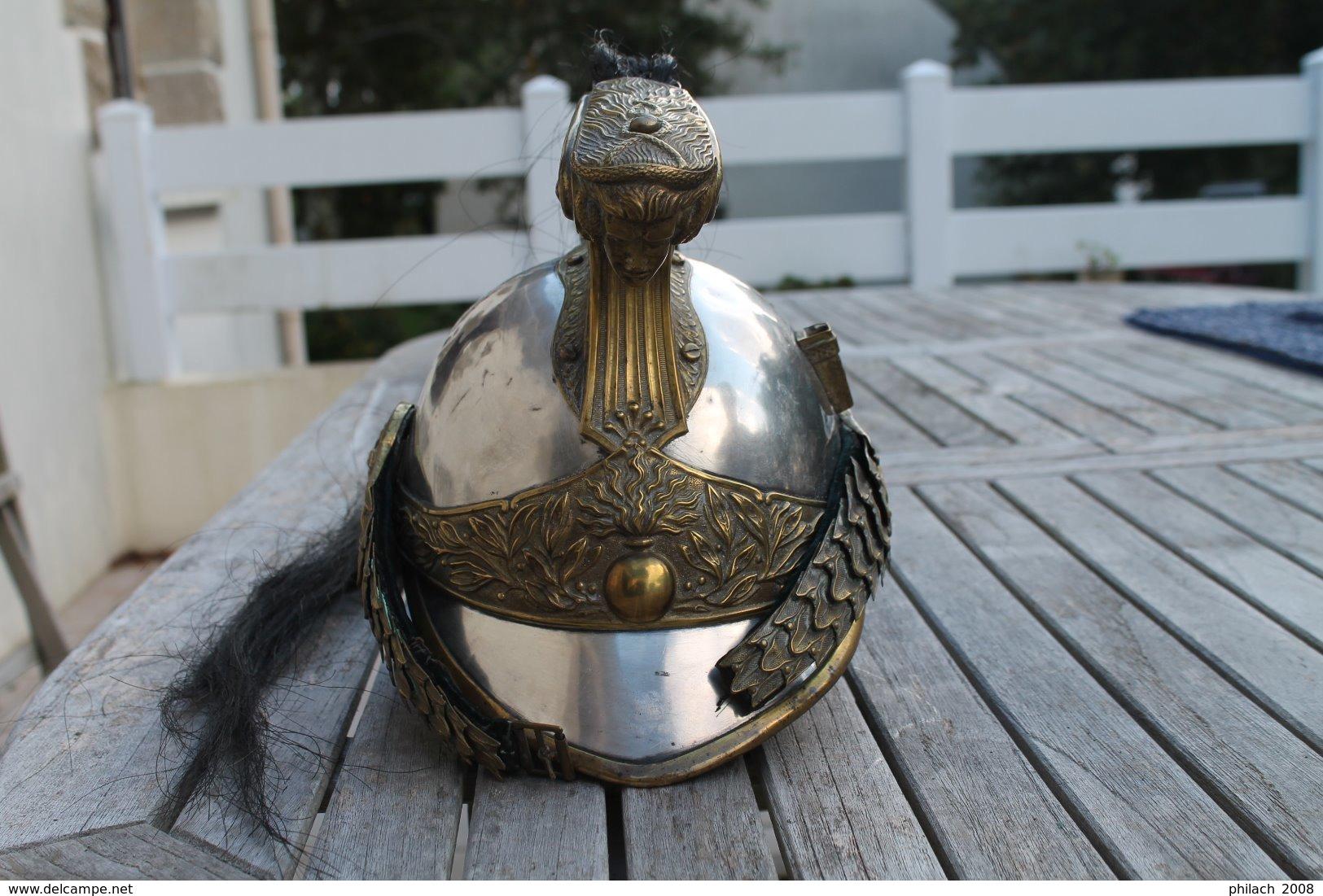 Casque D Officier De Dragons Modele 1874 - Casques & Coiffures