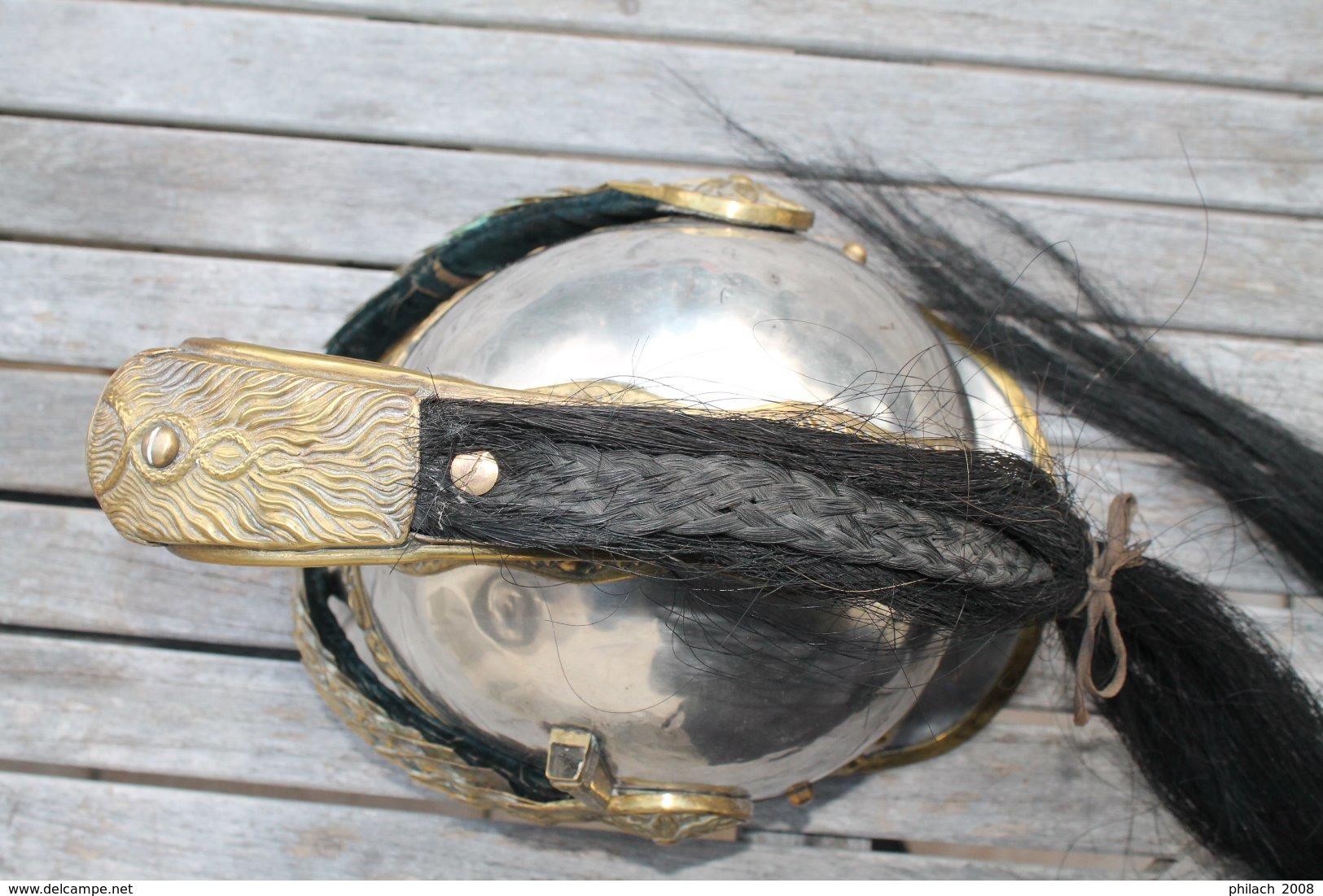 Casque D Officier De Dragons Modele 1874 - Cascos