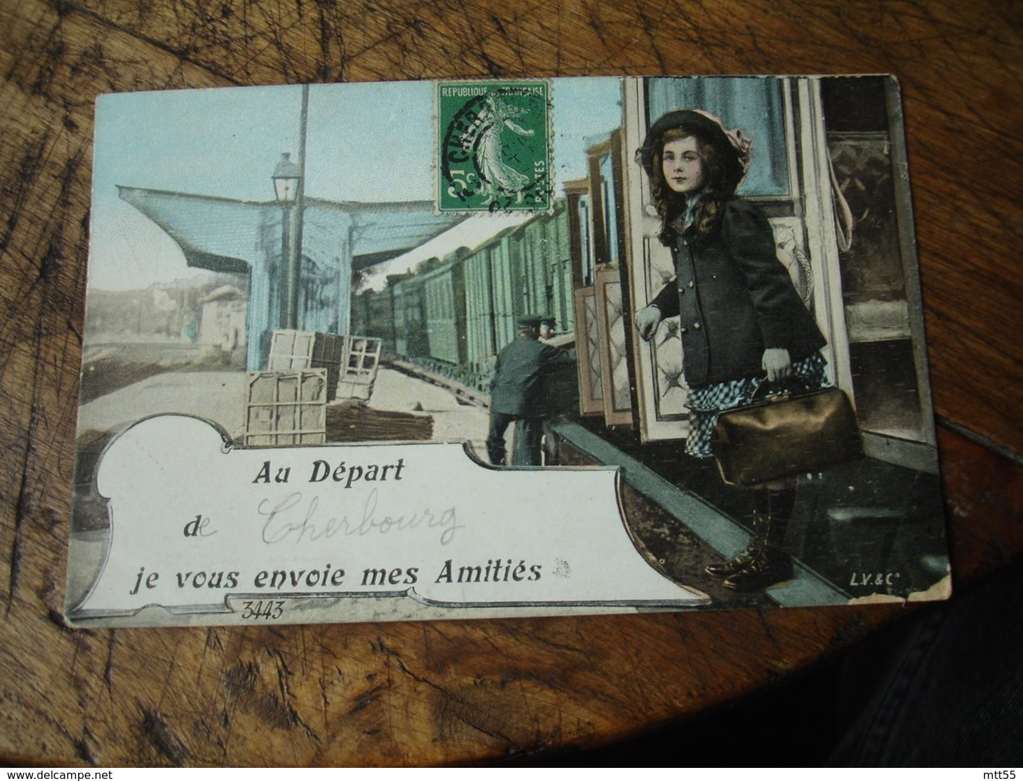 Train Fillette De Cherbourg Je Vous Envoie Mes Amities - Cherbourg