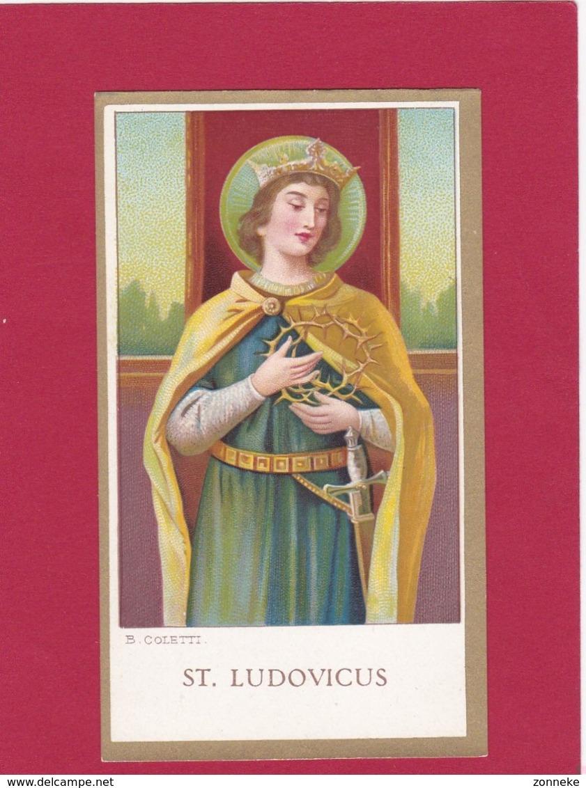 Devotieprent  St. Ludovicus - Devotion Images