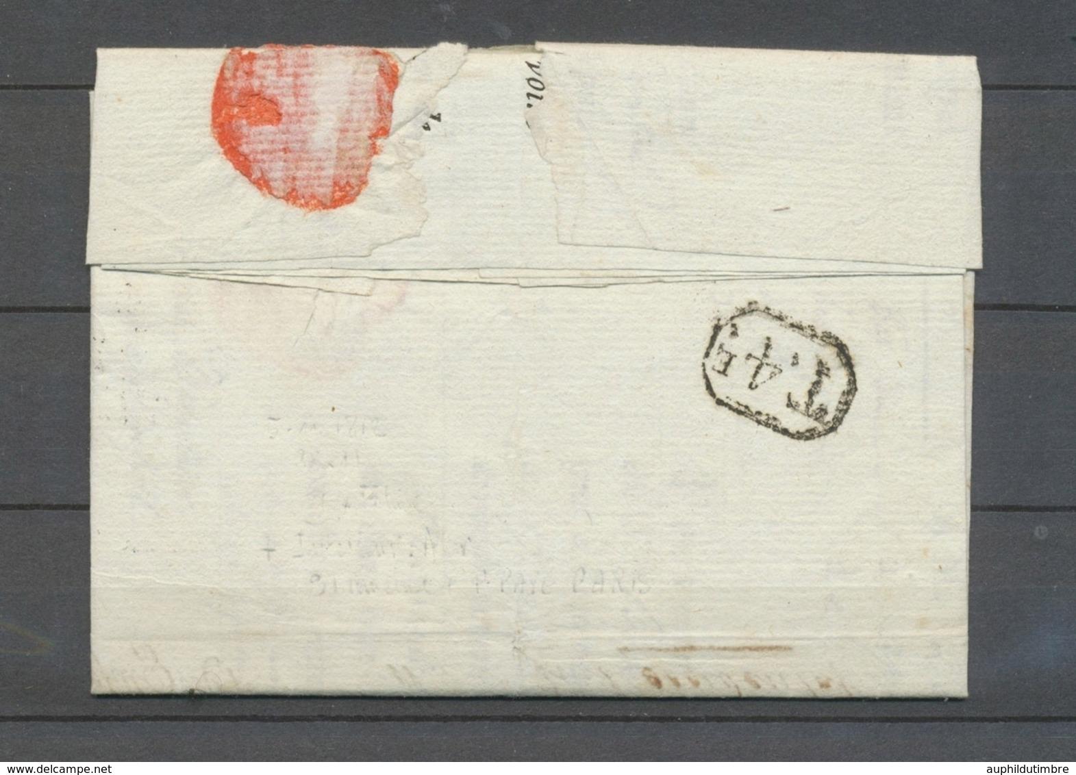 1812 Lettre Département Conquis 123/DELFZYL, Rouge + Paraphe De Franchise X4747 - 1792-1815: Départements Conquis