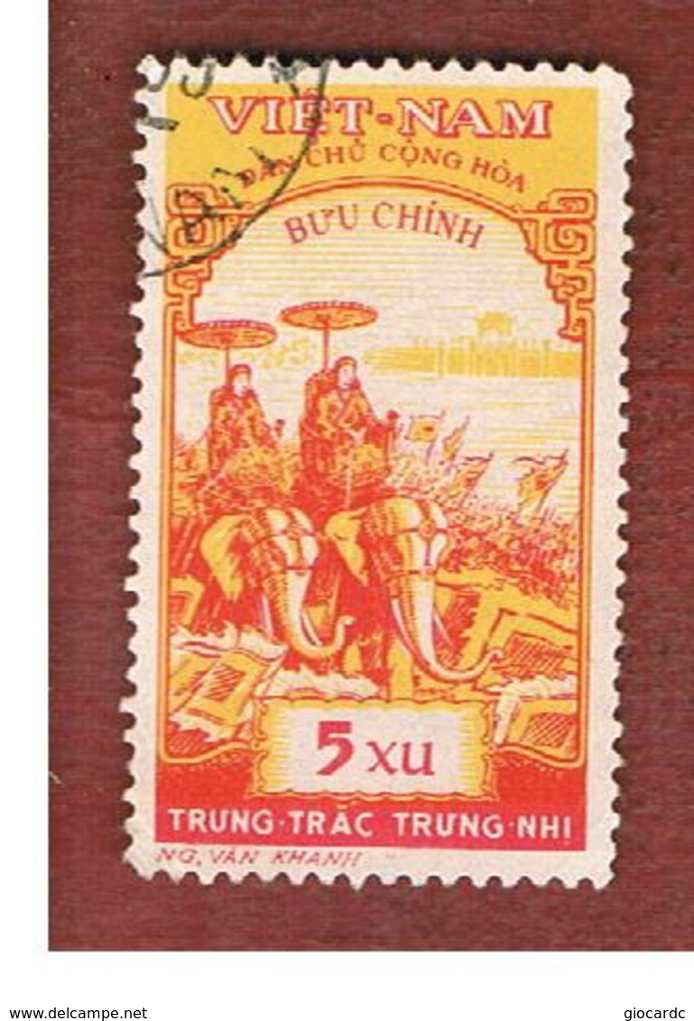 NORTH VIETNAM - SG N103  -     1959 THE TRUNG SISTES: ELEPHANTS           -  USED - Vietnam