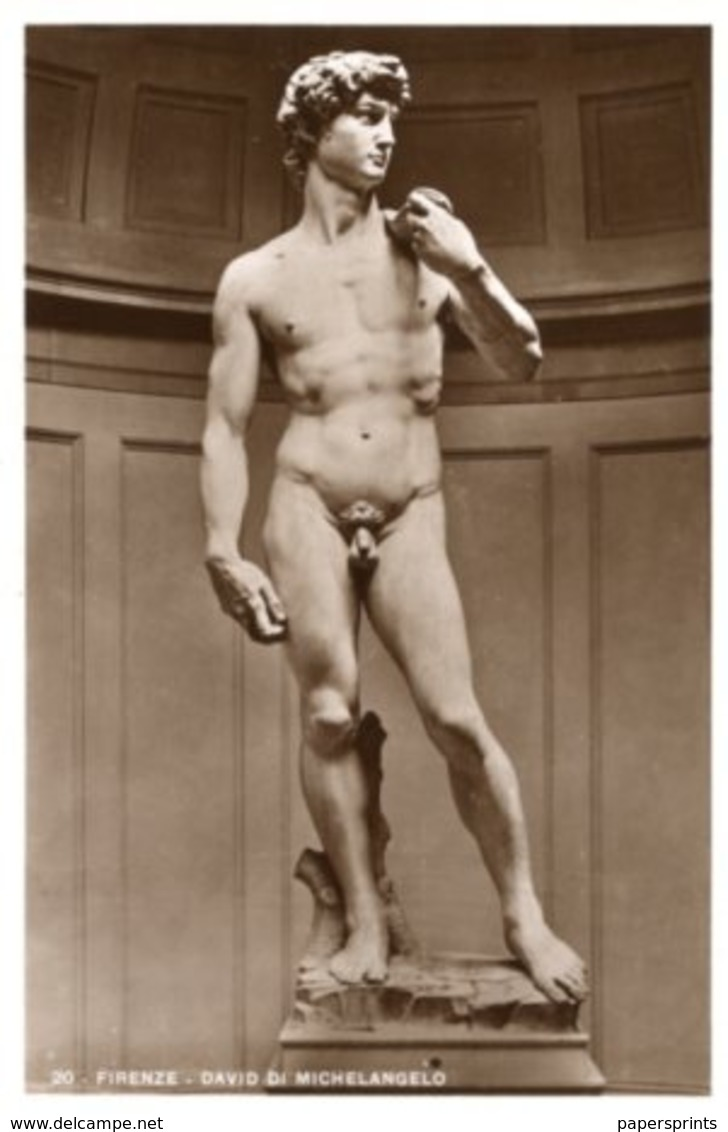 Cartolina Antica DAVID Di MICHELANGELO (Firenze) - OTTIMA R18 - Sculture