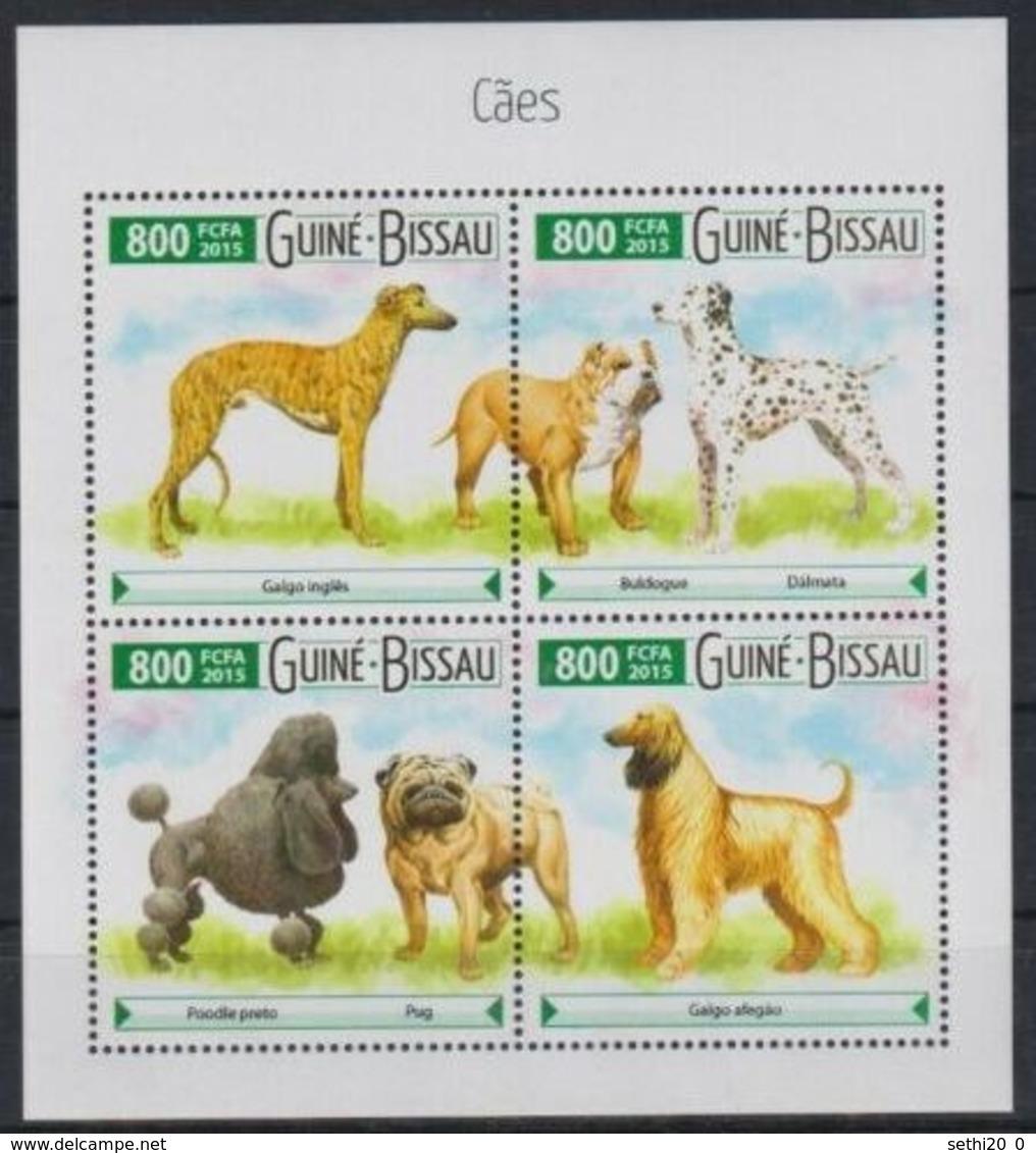 Guinée Bissau 2015  Chiens Dogs MNH - Louis Pasteur