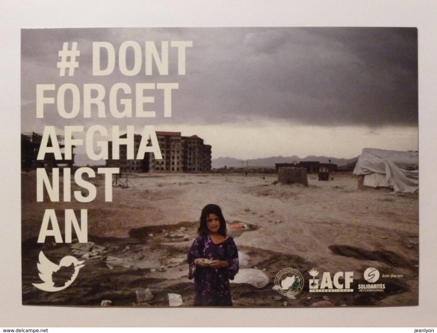 AFGHANISTAN - Petite Fille - Carte Publicitaire Associations ACF - Solidarités International - Afghanistan