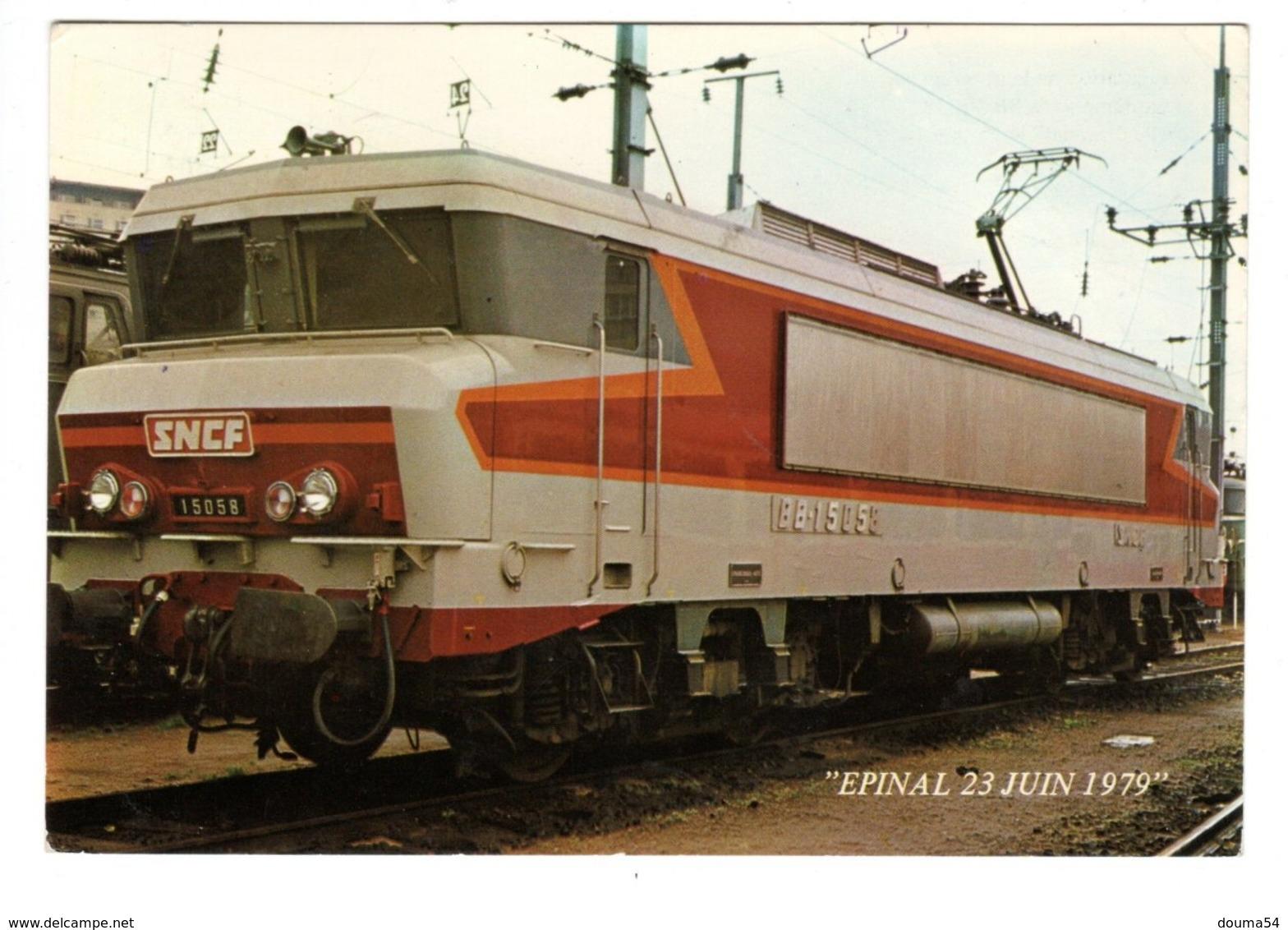 EPINAL (88) - Inauguration De La Gare Rénovée - BB 15058 - 1979 - Epinal