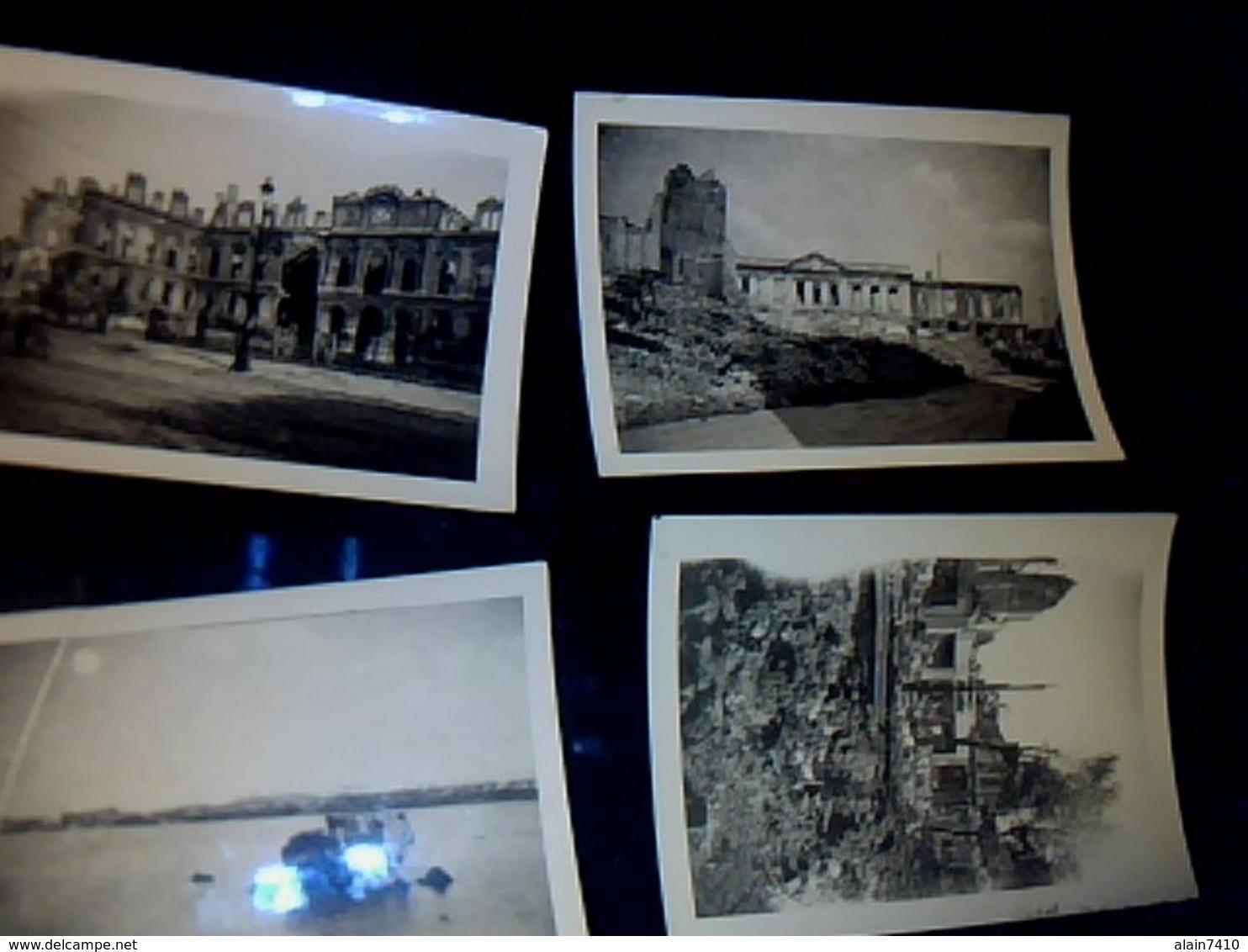 Lot De 8 Photos Le Havre Bombardé (ruines) Année 1944 CF Photos *** - Persone Anonimi
